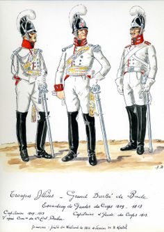 Grand Duchy Of Baden Garde Du Corps Squadron. Captain 1809-13, and Captain and Trooper 1813