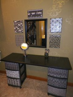 make up vanity that attaches to wall like a shelf | DIY Makeup Vanity Brilliant Setup for Your Room