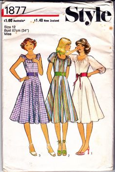 1970s Vintage sewing pattern Stylee 1877 by allthepreciousthings
