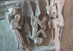 Gislebertus:  Cathedral D'Autun Romanesque Art, Romanesque Architecture, Free Standing Sculpture, Sculpture Art, Cathedral, Artists, History, Medieval Art, Sculptures