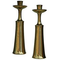 Jens Quistgaard brass candlesticks