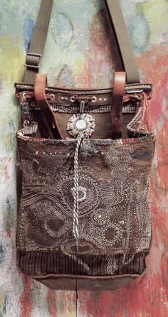Details About Handmade Brown Leather Fringe Bag Cross Body