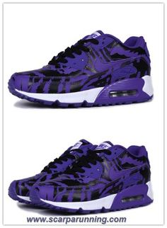 check out 2aa43 7ed3b comprare scarpe online Nike Air Max 90 Tiger Stripes Deep Viola Nero  acquisti on line scarpe