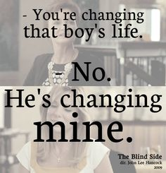 The Blind Side. my favorite part of this   movie i cry here everytime!