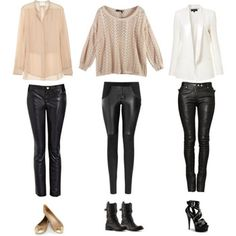 Taste of Leather: How to wear leather pants in day-to-night transition for Fall