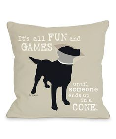 Look at this 'It's All Fun and Games' Pillow on #zulily today!