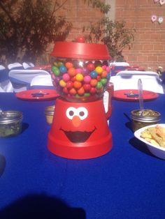 Centro de mesa Fiesta de Elmo
