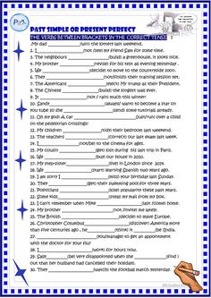 Past simple or present perfect practice