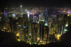 Just came back from a long overdue trip up to the peak. Beautiful view of Hong Kong on a clear night.