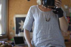 Grainline Studio Scout Tee with modified longer sleeve