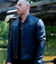 Fast and Furious 7 Vin Diesel Blue leather jacket in Hot sale price #fast7leatherjacket #furious7leatherjacket #vindieselleatherjacket