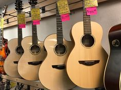 New, in-stock Faith guitars are 20% OFF in April! Come see us!