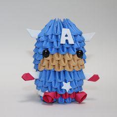 3D Origami Capitán América