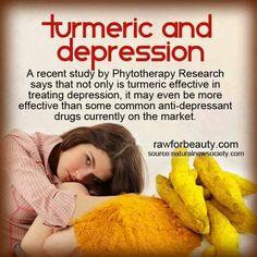 Tumeric for treating depression