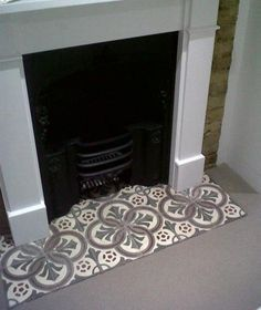 Looking for tile fireplace ideas? Deck your hearth out with beautiful antique tiles salvaged from across Europe courtesy of the Reclaimed Tile Company. Fireplace Hearth Tiles, Fireplace Surrounds, Fireplace Design, Fireplace Fronts, Fireplace Stone, Bedroom Fireplace, Home Fireplace, Fireplace Remodel, Rustic Fireplaces