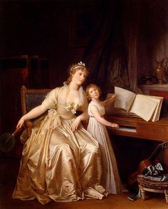women painters The Piano (1785-1787), Marguerite Gérard