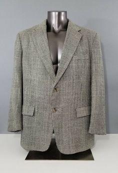 41d3fc93747 Tommy Hilfiger Dillards Mens Beige Black Houndstooth Blazer Jacket Size 42  R  fashion  clothing