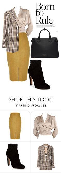 """""""Professional"""" by bowmanella ❤ liked on Polyvore featuring River Island, Yves Saint Laurent, Gianvito Rossi, Gucci and Burberry"""