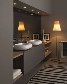 Inspiring Small Bathroom Remodel Designs Ideas on a Budget 2018 small Bathroom remodels and Makeover With Before and After. easy industrial, farmhouse, minimalist etc From Single Sink Vanity to Double Sink Bathroom Remodel. Best Bathroom Designs, Bathroom Design Luxury, Bathroom Ideas, Bath Design, Luxury Bathrooms, Bathrooms Online, Bathroom Furniture Design, Half Bathrooms, Sink Design