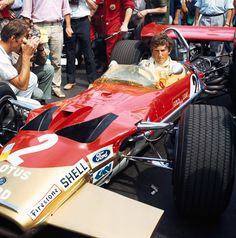 Karl Jochen Rindt (AUT) (Gold Leaf Team Lotus), Lotus 49C - Ford-Cosworth DFV 3.0 V8 1970