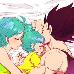 awww, even Vegeta has a soft side :) his family :)