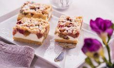 Rhabarber-Quarkkuchen Rezept: Rhabarber ist gut, Rhabarber mit Quark noch besser und Rhabarber mit Quark und Streuseln am besten - Eins von 7.000 leckeren, gelingsicheren Rezepten von Dr. Oetker!