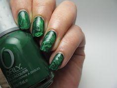 Dry Marble Nails (green nails) #31DC2016