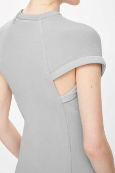 Contemporary Fashion - grey dress with curved sleeve detail; pattern cutting inspiration // COS