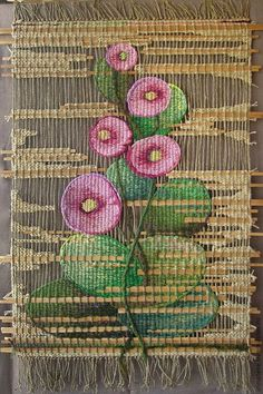 Beautiful tapestries, woven by craftsmen Weaving Textiles, Weaving Art, Weaving Patterns, Loom Weaving, Hand Weaving, Tapestry Loom, Bird Embroidery, Tapestry Design, Weaving Projects