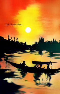 Kashmir Shikara - School days painting