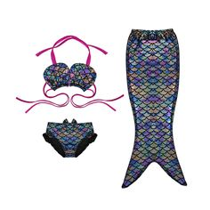 Cheap swimsuits picture, Buy Quality swimsuits for flat chested women directly from China girls purple swimsuit Suppliers: 	New Design Fashion Muiltcolor Mermaid Tail 3-12Y Baby Girls Vintage Swimmable Mermaid Swimsuit for Swimming Sandy Beach