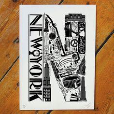 Best Of New York Screen Print