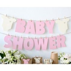 Genial idea para decorar tu fiesta Baby Shower #babyshower #decoracion
