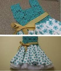 Discover thousands of images about Vestido Circular con Blusa Tejida a crochet para niña Crochet Yoke, Crochet Skirts, Crochet Fabric, Toddler Dress, Baby Dress, Toddler Girl, Tulle Dress, Knit Dress, Little Girl Dresses