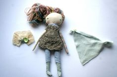 pale rainbow natural pixie lu doll 12 rag doll by humbletoys