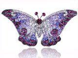 Empress Monarch Purple Winged Butterfly Swarovski Crystal Rhinestone Pin Brooch - Brooch, Butterfly, Crystal, Empress', Monarch', Purple, Rhinestone, Swarovski, Winged
