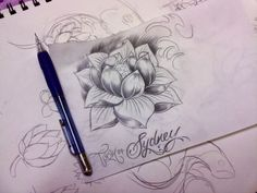 aster+tattoo | ARTST Guild & Gallery | water lily flower tattoo