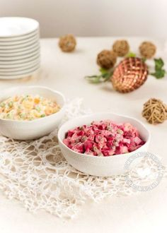 """Ensalada Rusa Recipe (""""Russian"""" Potato Salad): a Dominican's favorite. It is usually served on special occasions and at Christmas dinner. Ensalada Rusa Recipe, Russian Potato Salad, Dominican Food, Dominican Recipes, Most Popular Recipes, Latin Food, Holiday Recipes, Holiday Meals"""