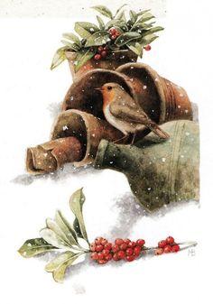 Зимние акварели от голландского художника Marjolein Bastin | Colors.life