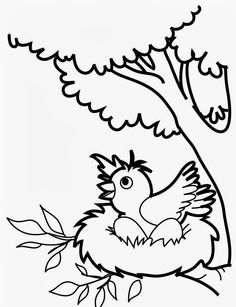 Free Printable Kids Coloring Pages Of Birds Shut In Cards Bird