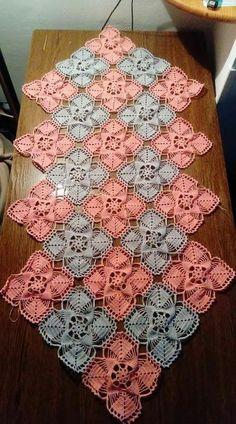 Table centerpiece crochet doily french decor - housewarming crochet rose gift for wife - rose table decoration crochet anniversary runner Bag Crochet, Crochet Motifs, Crochet Quilt, Granny Square Crochet Pattern, Easter Crochet, Tunisian Crochet, Crochet Squares, Filet Crochet, Crochet Doilies