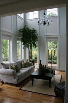 two story window trim