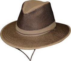 3edc1ee08fd11 Henschel Aussie Earth Packable Mesh Breezer - Henschel Hats Aussie