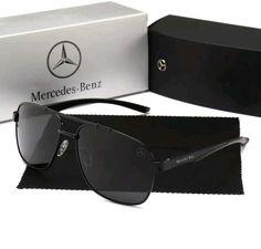 ea51d53b6 Mercedes Benz gafas de sol diseño us army mod polarizada y 100% UV400 negras