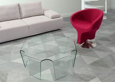 Cleo Tempered Glass Coffee Table - Clear Glass | Zuri Furniture