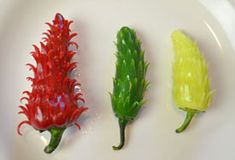 Carved Chili flowers