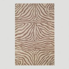 "Brown Ravella Zebra Indoor-Outdoor Rug  42"" X 66"" $139.99"