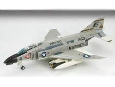 Hobbymaster 1:72 McDonnell Douglas F-4B Diecast Model Airplane HA1966 McDonnell Douglas F-4B Phantom VMFA-323 Diecast Model Airplane. It is made by Hobbymaster and is 1:72 scale (approx. 16cm / 6.3in wingspan).  General Background  The F-4 Phantom II first entered US Military service in 1960. It was designed as a fleet defense fighter for the US Navy but by 1963 it was adopted as the US Air Force primary fighter-bomber. Despite the size and weight of this Cold War icon the F-4 broke 15…