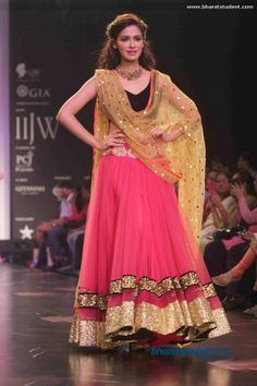 black and pink lehenga