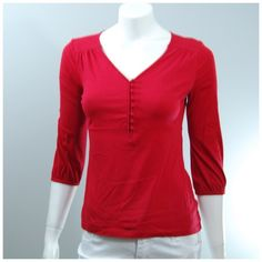 LIKE NEW Charter Club knit red cozy comfy top SM With 3/4 sleeves, this is a fantastic, soft and comfy season-spanner! 100% Pima cotton. Worn once. Charter Club Tops Tees - Long Sleeve